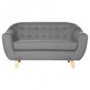 Retro Sofa 2pl grau, grau