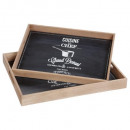 welcome b x2 tray, 2- times assorted , brown