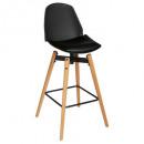 stool bar pu black wilio, black