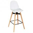 bar stool pu pu white wilio, white