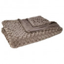 plaid four bouclee tp 180x230, taupe