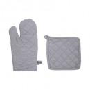 Handschuh + Handschuhe Baumwolle hellgrau, hellgra