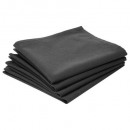 groothandel Bad- & handdoeken: handdoek tafel ctn grijs f x4, donkergrijs