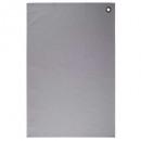 Toalla de algodón gris c 45x70 x2, gris claro