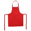 tablier 1 p cotton rouge 60x80, rouge