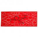 tapijt gedecoreerde letters 50x120, 3 maal geassor