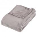 grijs microfiber plaid 130x180, grijs