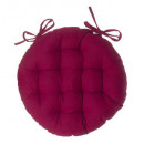 galette chaise ronde rouge d38, rouge