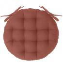 galette chaise ronde terra d38, terracotta