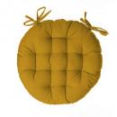 silla galette redondo ocre d40, amarillo