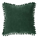 Pillow pompons cedar 40x40, cedar green