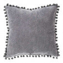 Pillow pompons gf 40x40, dark gray