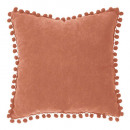 Pillow pompons terra 40x40, terracotta