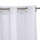 cortina blanca con flecos 140x240, blanco
