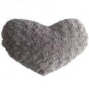 Hebilla de corazón Cojín taup28x36, marrón topo