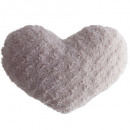coussin coeur boucle rose28x36, rose