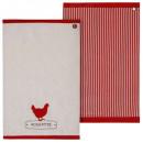 toalla de pollo 45x70 x2, multicolor