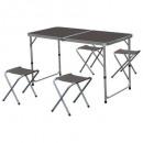 składany stolik aluminiowy + 4 taborety, 2 razy mi