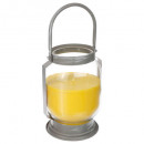 lantern candle lemongrass, yellow