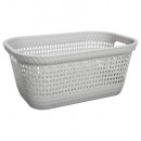 laundry basket 45l rattan t, taupe
