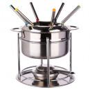 Großhandel Elektrogeräte Küche: Service Fondue 6er Edelstahl, Silber