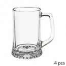 beer glass x4 handle 32cl