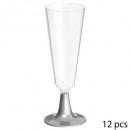 flute champagne silver x12