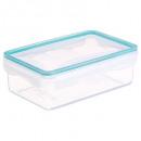 wholesale Houshold & Kitchen: box rectangle clipeat 1190ml, blue