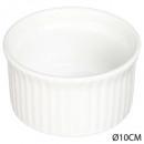 ramequin 9cm ceram blanc, blanc
