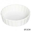 tartelette 12cm ceram blanc, blanc