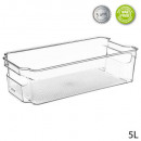 bac rangt frigo pet 5l sf, transparent