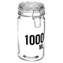 bocal verre capacite 1000ml, transparent