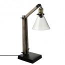 hout + metalen lamp abj vr alak h59, bruin