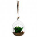 plante artif + boule verre d7h9,5, 2-fois assorti,