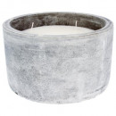 scented candle pot cement citr d31, gray