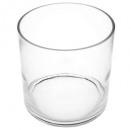 vase verre cylind d18h18, transparent