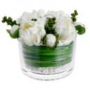nagyker Otthon és dekoráció: Compo Peony váza vr d23h15, fehér
