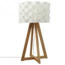 lampe bambou papier moki h55, blanc