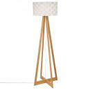 lampdr bamboe pap moki h150, wit