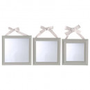 square ribbon mirror x3, 3- times assorted , color
