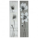 pei flower canvas 28x118x2.5, 2- times assorted ,
