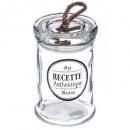 glass jar printed rope 12cm, transparent