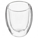 cup x2 double wall cafe2 10cl, transparent