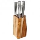bloc 5 couteaux acacia, sans couleur
