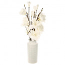 Magnolia ceramic vase h75 composition, white