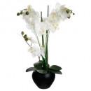 orchidee keramische vaas zwart h.53, zwart