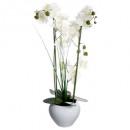 orchidee witte keramische vaas h.53, wit