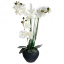 orchidee gray ceramic vase h.53, gray