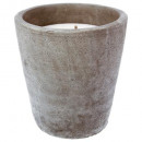 scented candle cement pot citr d21, gray