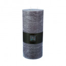 rustieke grijze ronde kaars 14x32, wit
